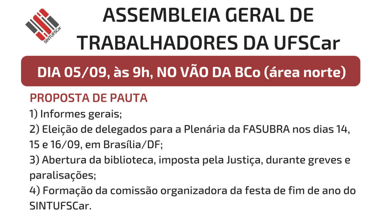 Assembleia Geral – Campus São Carlos