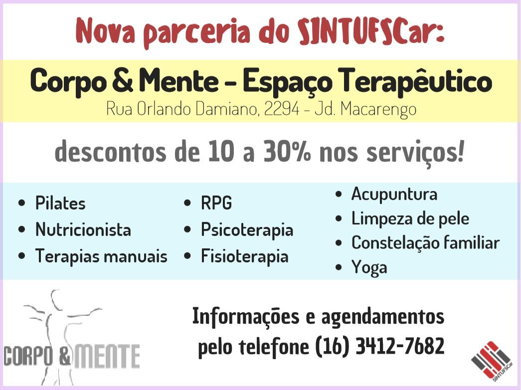 SINTUFSCar faz parceria com Clínica Corpo & Mente