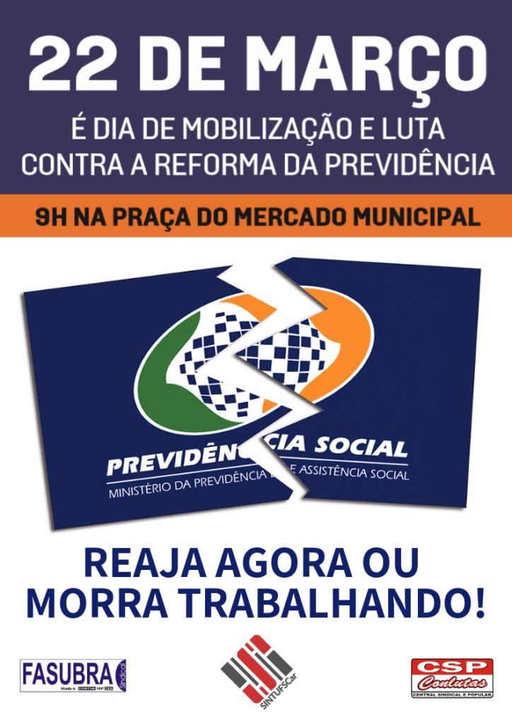 Dia de Mobilização e Luta contra a Reforma da Previdência