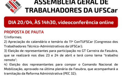 20/04 – Assembleia Geral