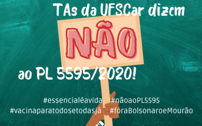 O SINTUFSCar diz NÃO AO PL 5595/2020!