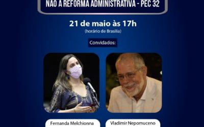 Live da FASUBRA debate estratégias contra a PEC 32 nesta sexta (21/5)