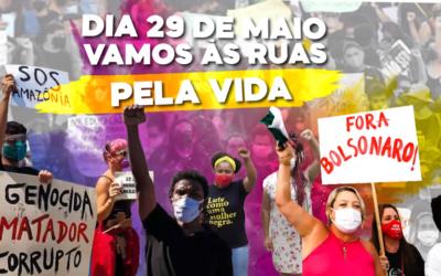 Dia 29 de maio vamos às ruas pela vida!