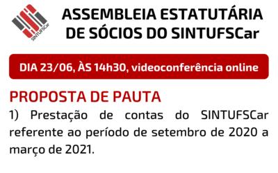 23/06: Prestação de contas e assembleia geral