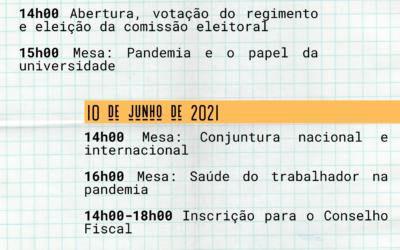 XI CONTUFSCar: 09 a 11 de junho de 2021